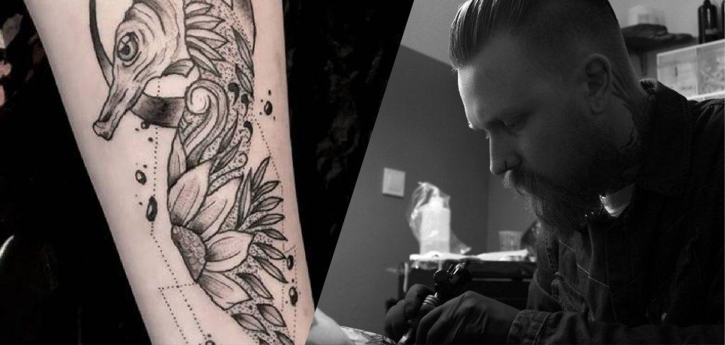 Florian und eines seiner Tattoos