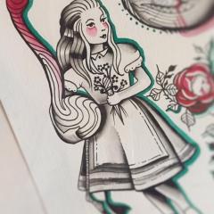 Herzwert Wannado von Celine - Alice im Wunderland