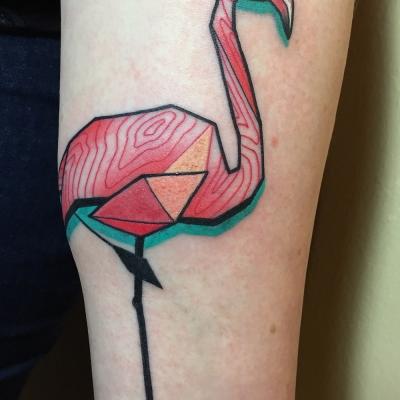Herzwert Tätowierungen - Aachen Tattoo - Celine - Flamingo