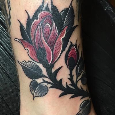 Herzwert Tätowierungen - Aachen Tattoo - Celine - Rose 2