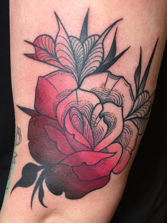 Herzwert Tätowierungen - Aachen Tattoo - Celine - Rose