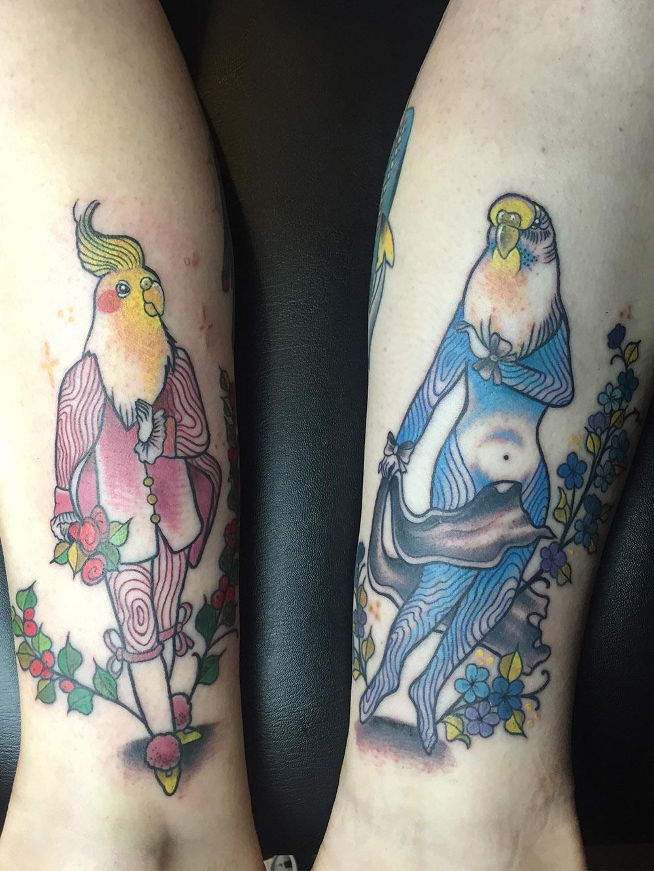 Herzwert Tätowierungen - Aachen Tattoo - Celine - Vögel