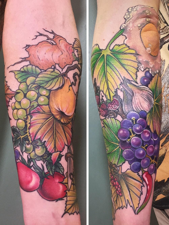 Herzwert Tätowierungen - Aachen Tattoo - Celine - Obst Stillleben