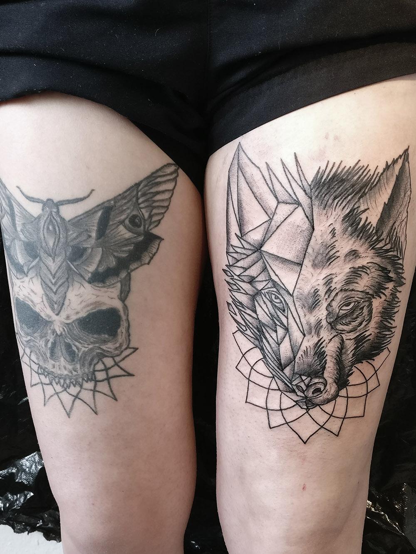 Herzwert Tätowierungen - Aachen Tattoo - Florian - Wolf