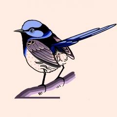 Vogelmotiv von Celine